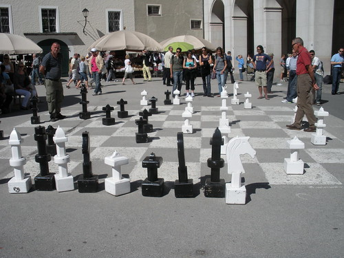 Friendly Game of Chess in Salzburg Austria
