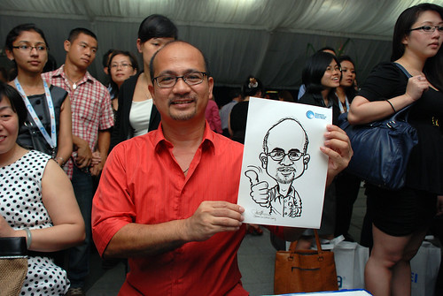 caricature live sketching for Singapore International Water Week Closing Dinner - 15