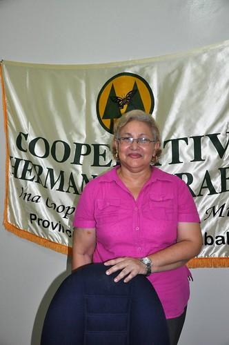 La presidenta  Lesbia Gonzalez