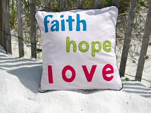 F, H, L pillow