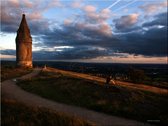 A Moment Of Tranquility While Chaos Breaks Out Across The Country (slaup) Tags: sunset clouds landscape manchester peace view pike riots idyllic rioting hartsheadpike tameside