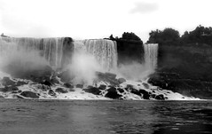 Colorless Niagara (VermontDreams) Tags: blackandwhite bw white ny newyork black niagarafalls waterfall bottom falls waterfalls base maidofthemist americanfalls niagarariver niagaracounty wnywaterfallers
