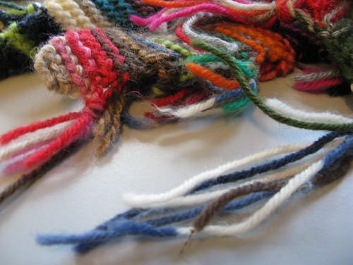 Rag rug scarf