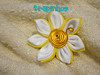 Flor doble (Trapinhos_Vzla) Tags: flores flower broche flor tela prendedor kanzashi fabricpin