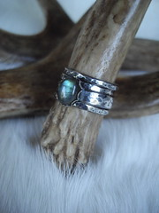 labradorite and sterling silver stack ring set (Bear Country Studio) Tags: stack rings labradorite sterlingsilver bearcountrystudio