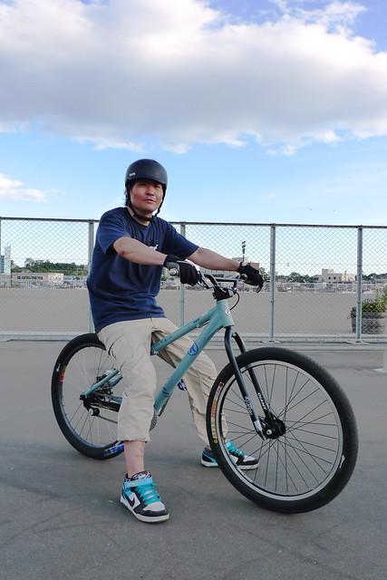 Mr. Hayashi, Street MTB Rider in Kushiro, Hokkaido.
