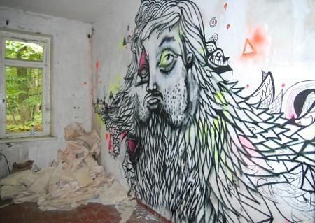 Heilstätten Grabowsee, art base 2011, Street Art