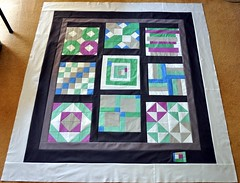Patchwork Squared Quilt top complete