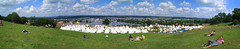 The Hill Panorama (AndyCunningham) Tags: england music festival other europe view unitedkingdom glastonbury somerset gbr pilton glastonbury2009