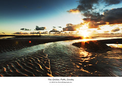The Golden Path, Crosby (Ianmoran1970) Tags: blue sunset sea sky cloud beach wet water beautiful canon river gold golden sand stream path running windfarm 1022 crosby windturbines ianmoran windfram ianmoran1970