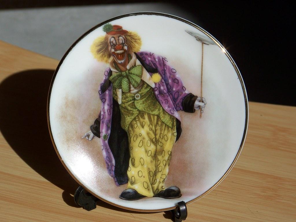 Vintage Miniature Clown Plate