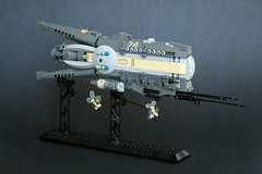 Trafalgar (1) (Chase Lewis [Vid]) Tags: grey lego space tan moc microspace starfighter battlecruiser escorts microscale foitsop