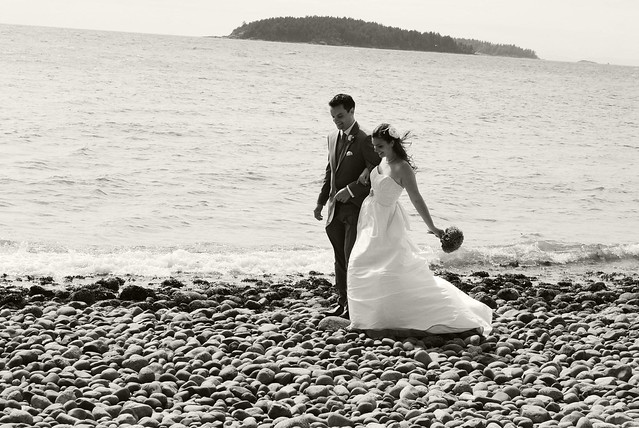 Bride + Groom // Rocks + Water