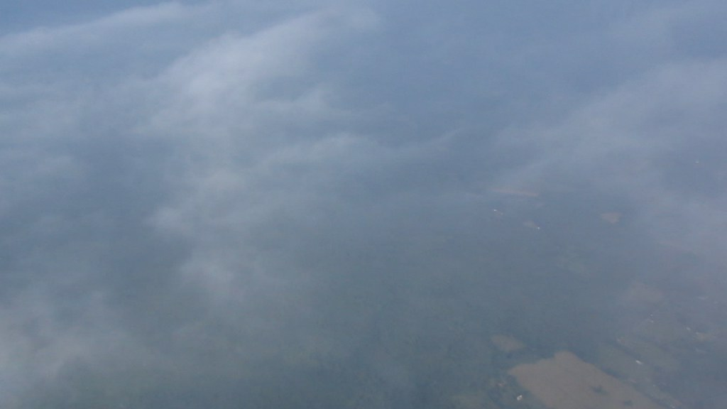 Plane's shadow.