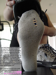 Mindy01 (gtsblade) Tags: feet socks foot sock squish crush giantess gts shrink shrunkenman