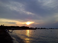 A Perfect Moment: Sunset at Fairport Beach