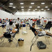 About 1300 students had signed up to give blood.