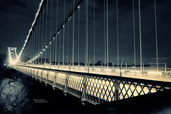 Clifton bridge [ Explore ] (Hadi Al-Sinan Photography) Tags: uk trip bridge night canon river bristol photography photo long exposure shot suspension mark tripod leeds best ii 5d suspended society clifton photgraphy manfrotto hadi 2470mm 2011 photosoc alsinan alssinan