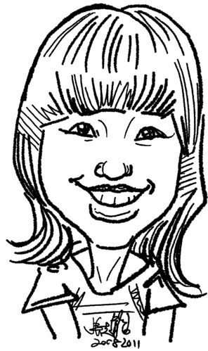 digital live caricature on HTC Flyer for HTC Weekend - Day 1 - 7