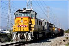 The Marlboro at Marlboro (greenthumb_38) Tags: railroad yellow train powerlines marlboro unionpacific remote locomotive sled gennie genset transmissionlines 2725 upy jeffreybass remotesled upy2725 marlborosiding