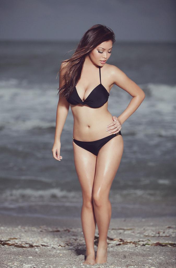 Asian babe beach