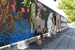 Billede 040 (Paradiso's) Tags: art wall copenhagen graffiti market kunst flea paradiso kbenhavn muur kunstwerk vlooienmarkt plads rommelmarkt valby loppemarked vg artinthemaking kunstevent toftegrds kulturhusvalby
