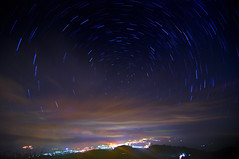 Stars trails (Vincent_Ting) Tags: sky star taiwan daylily  formosa  sunrays  startrails milkyway hualian    hemerocallisfulva       clousd