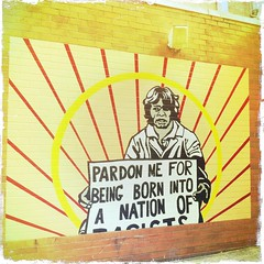 streetart graffiti australia brisbane queensland humanrights racist equality indigenousaustralian burnettlane iphoneography hipstamatic