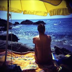 [another sunny day] ([noone]) Tags: españa 120 6x6 beach mar holga lomo xpro crossprocessed procesocruzado spain mare playa andalucia medium format belleandsebastian medio spiaggia cabodegata spagna 2010 formato cfn formado anothersunnyday lassirenas processoinverso