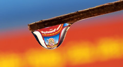 Goddess Durga Refraction (soft_eye) Tags: refraction droplet durga goddes drnirmalkumarcom