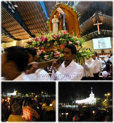 Candlelight procession at St Anne's Church on her feastday, July 26 2011