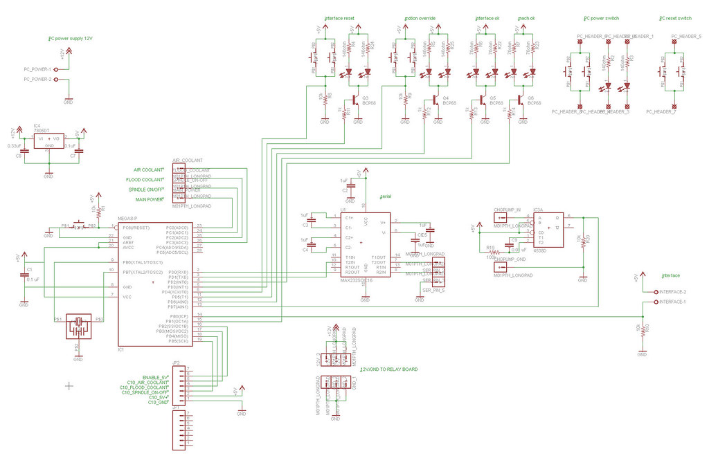 CNC mill - main board schematic