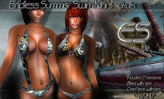*ES* Endless Summer Swimkini-Skulls (Essential Soul Studio) Tags: sexy fashion female soul essential es maeve stevendean maevestrom essentialsoul