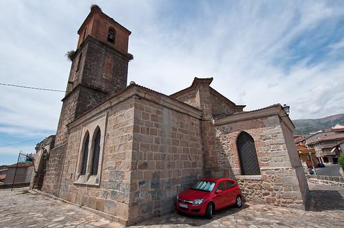 La iglesia de San Juan Bautista en Casavieja