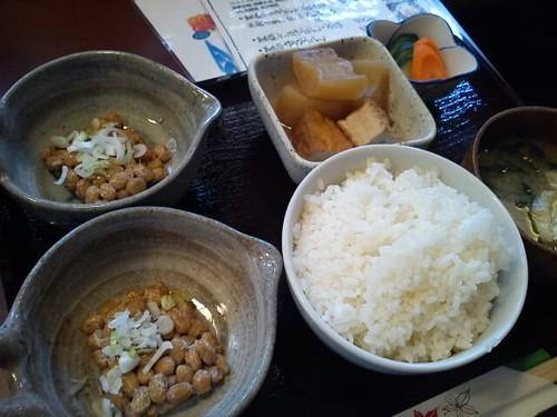 せんだい屋の納豆定食