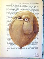 Camera Roll-139 (Maan (Manuel van der Graaf)) Tags: art monster painting paper character kunst ballon balloon schilderij creature papier acryl maan karakter maanaandemuur