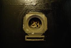 Number 23 (Sin Herbert) Tags: door newyork black film sign gold puerta sinister number horror pelicula 23 nuevayork peli number23