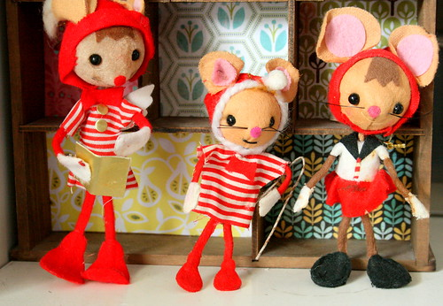 Mice Ornaments by lolie jane