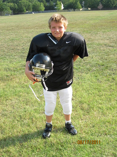 2011 August - Nicholas starts Football with the 95lb Ravens