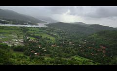 Vashishti View Point, Chiplun (Tejas Katdare) Tags: storm water rain clouds river day village view sony monsoon wetlands tropical tropics rainfall ville stormclouds vantage vantagepoint chiplun konkan ratnagiri kokan h50 dsch50