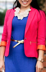 Zara pink fitted blazer