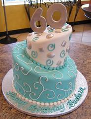 Topsy Turvy (Creative Cakes - Tinley Park) Tags: spiral diamond number topsyturvy scrolls