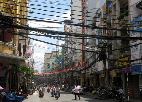 Spaghetti Wires Over Bui Vien Street