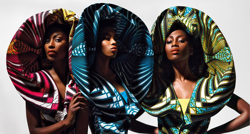 'DAZZLING GRAPHICS': COLORFUL BLACK AND WHITE - Vlisco's Second Fabric Collection of 2011