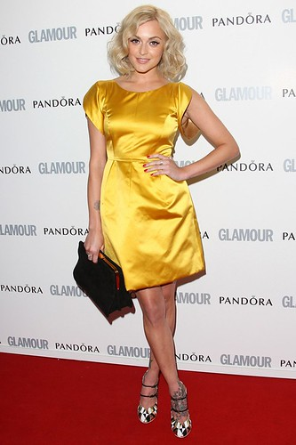 Fearne Cotton at the GLAMOUR Awards wearing yellow dress