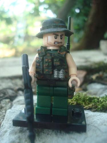 Custom minifig Vietnam war US radioman