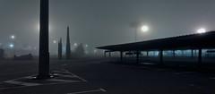 Parking under mist (Julio López Saguar) Tags: madrid city urban españa mist fog night landscape noche spain empty parking aparcamiento ciudad paisaje panoramic urbano lonely niebla solitario alcorcón panorámica vacío juliolópezsaguar
