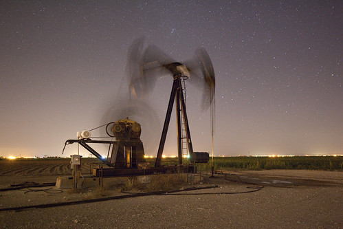 Oil Pump at Night