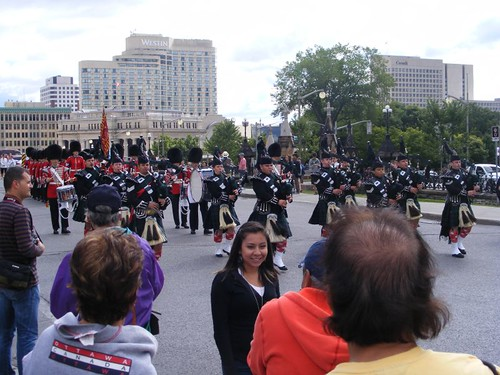 Bagpipe marchers