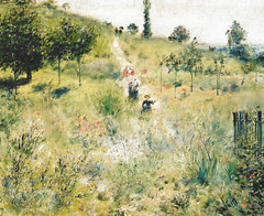Pierre Auguste Renoir - Path in the Long Grass, 1875 at Musee d'Orsay Paris France (mbell1975) Tags: paris france art grass museum painting europe long gallery museu path pierre fine arts eu muse musee m impressionism museo orsay impression impressionist muzeum dorsay auguste renoir 1875 mze museumuseum